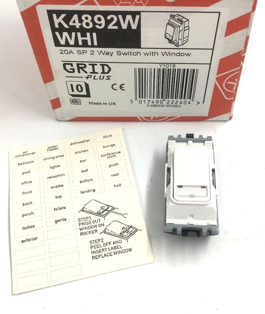 Mk Grid 20a Sp 2 Way Switch White With Window K4892w Whi Ebay For Car Norton Secured Powered By Verisign