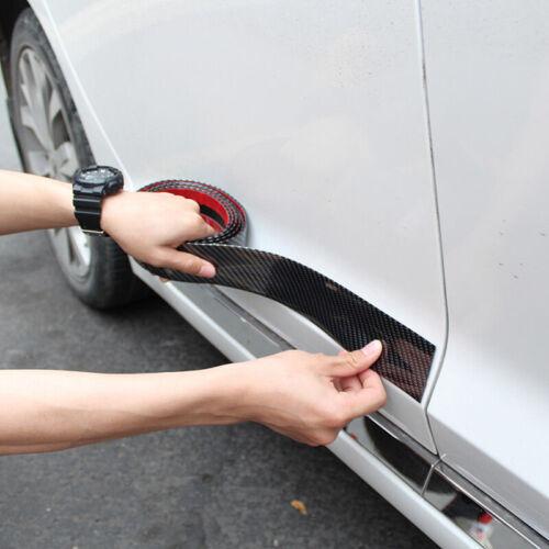 2m*3cm Carbon Fiber Car Moulding Trim Protector Bumper Strip Waterproof Decors