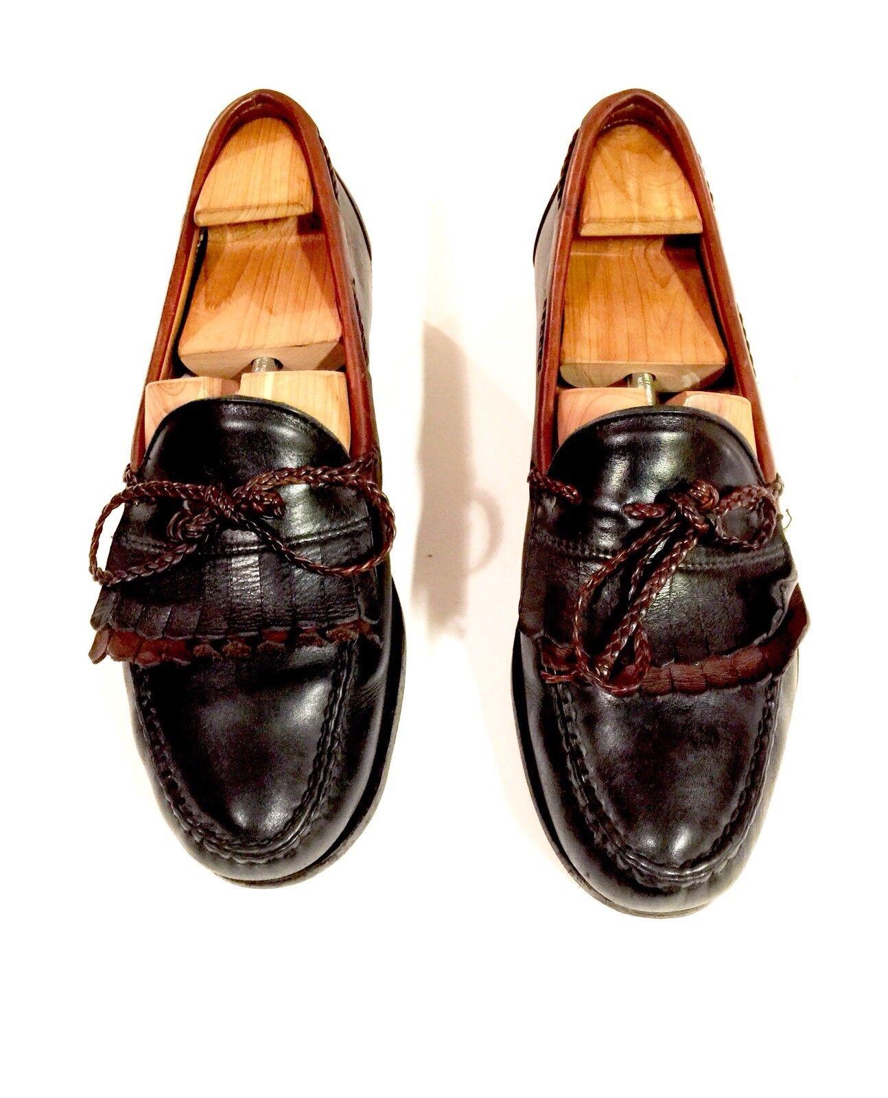 ALLEN EDMONDS Men's Dress shoes Loafer Sz 10.5D Brown Two Tone Leather WOODSTOCK