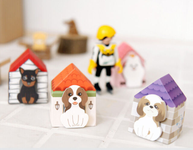 Cute Dog Puppy House Adhesive Sticky Notes Memo Kids Party Bookmark Kawaii