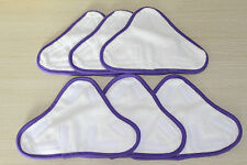 6 New Microfibre pads Non-Branded But Suitable For H2O H20 X5 Model steam mop