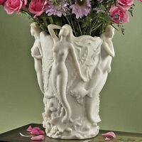 School Of Mermaids Sirens Of The Deep Bonded Natural Marble Urn Sculptural Vase