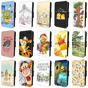detailed pictures 83b45 0467d Details about WINNIE THE POOH PIGLET TIGGER FLIP PHONE CASE for SAMSUNG  GALAXY S5 S6 S7 S8 S9