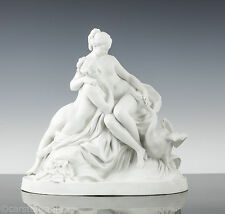 Etienne Maurice Falconet (1716 – 1791) Leda & the Swan Bisque Porcelain 1790