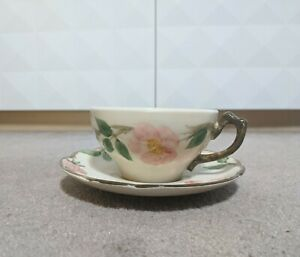 Franciscan-Desert-Rose-Cups-and-Saucer-Made-in-USA-Older-Marks