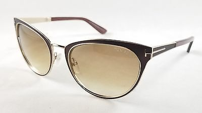 NEW Tom Ford FT0373 48F Nina Brown Gold Brown Gradient Sunglasses NO CASE