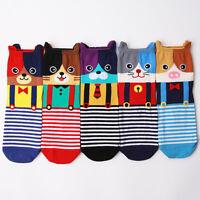 SUSPENDER ANIMAL SOCKS 5 pairs=1pack women girl cute MADE IN KOREA socks