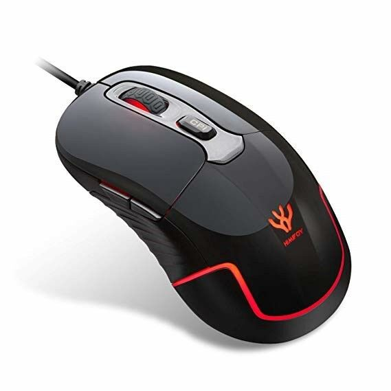 Gaming Mouse SOWTECH USB Wired Gaming Mice 4 Adjustable DPI Levels 6 Buttons LED