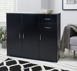 Image Is Loading Sideboard Home Office Cupboard With Shelf And Drawer