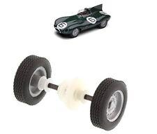 Scalextric W9649 Eje Trasero Rodamientos De Ruedas & Neumáticos Jaguar D Type C3486 C3308 Etc