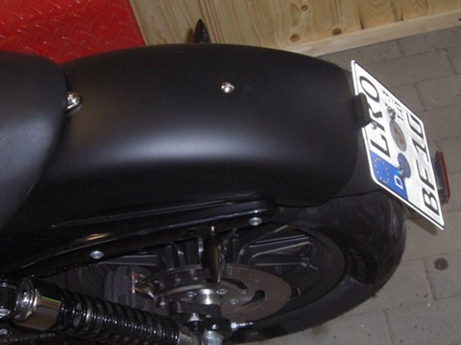 LED Motorrad Quad ATV Kennzeichenleuchte Aluminium Gehäuse schwarz E-Prüfzeichen
