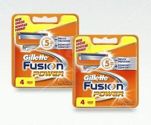 Gillette-Fusion-Power-Rasierklingen-8-Stueck-Ersatzklingen-Original-OVP