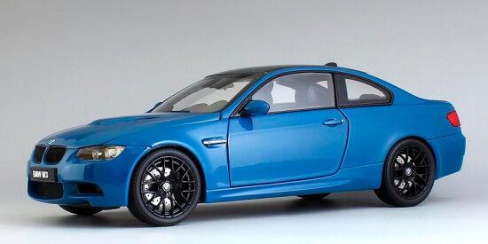 Bmw m3 coupé (e92m) lagnaseca blaue 1,18 kyosho 08734lbl