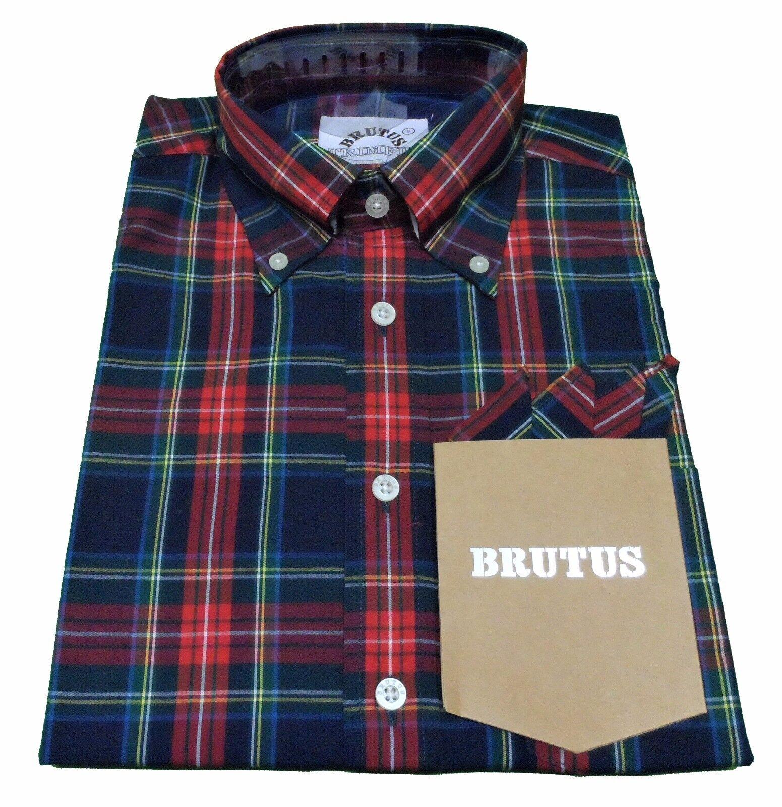 BRUTUS 115 Maniche Corte Vintage con MOD button down shirts