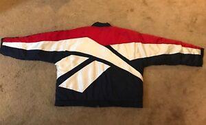 702032eb91ba Vintage 90s Reebok HUGE LOGO Zip-Up GRAIL Jacket Adult Size XL Red ...