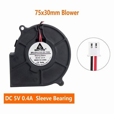 10pcs USB Power 5V 5cm 50mm x 15mm Blower Fan Computer Cooling Centrifugal Fan