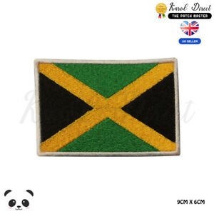 JAMAICA-National-Flag-Embroidered-Iron-On-Sew-On-Patch-Badge-For-Clothes-etc