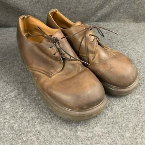 dr martens ch 8335 brown leather derby platform shoes men