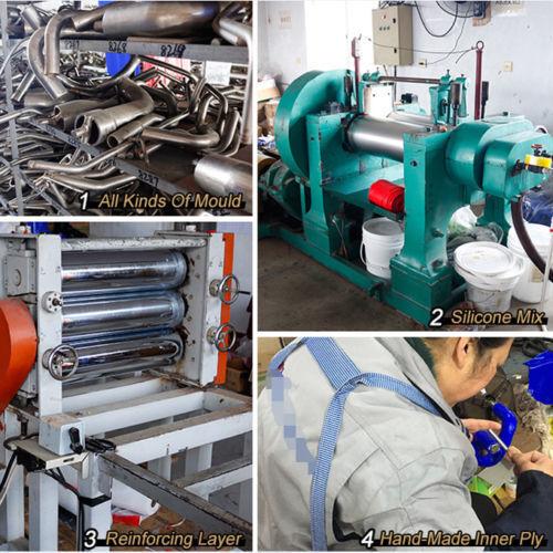 Green for 06-11 Civic Si FG2 FA5 2.0L K20Z3 Silicone Radiator Coolant 3-ply Hose