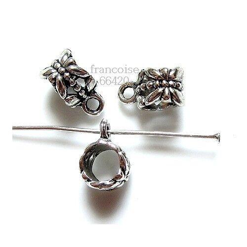 5 Bélières attache breloque 11.5x6.5x8mm Apprêts création bijoux bracelet /_ A190