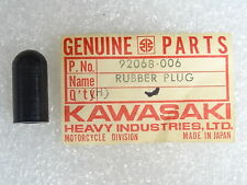 Kawasaki NOS NEW  92068-006 Rubber Plug 12x25 Z1 EL EN ER EX KL KZ KLX 1973-2014