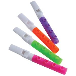 12-plastique Assorted Color Pipe Flûtes-afficher Le Titre D'origine Remise GéNéRale Sur La Vente 50-70%