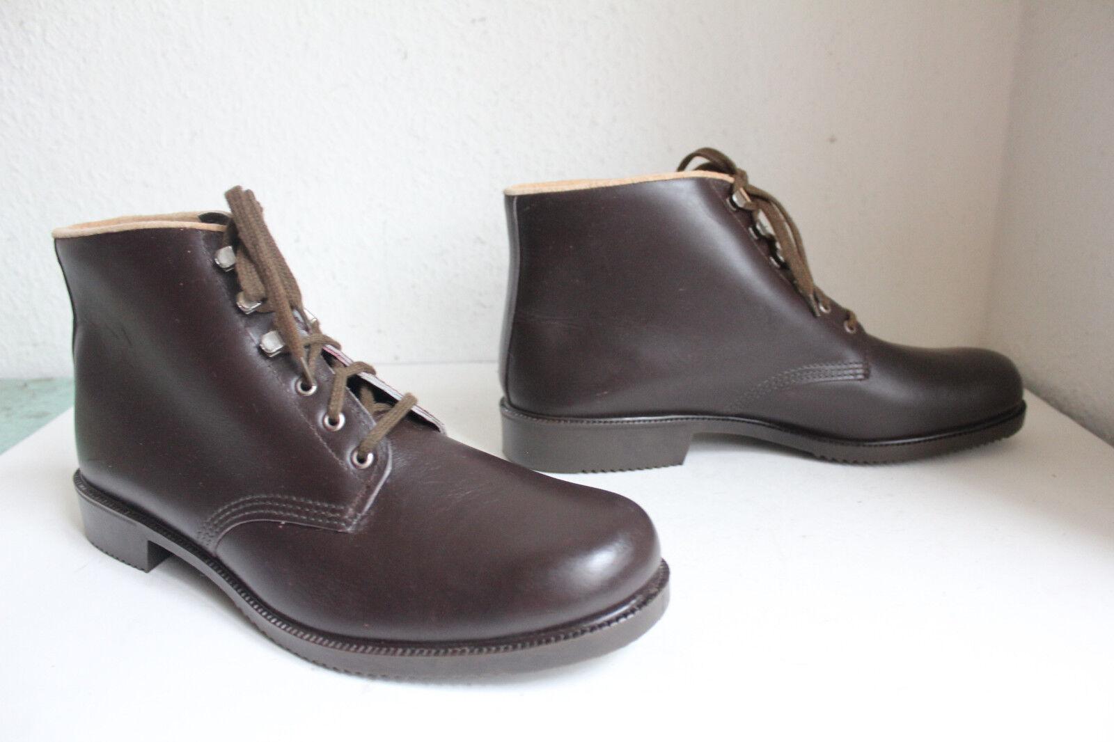True Vintage Elegante Schnürstiefeletten Boots Echtleder Braun 47- Wie Neu