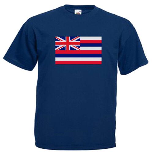 Hawaii Drapeau Adultes Hommes T Shirt