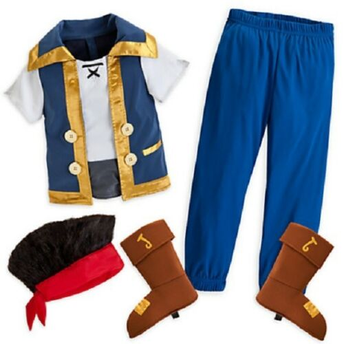 JaKe and the NeVeR LaNd PiRaTeS~Costume~WIG+TOP+PANTS+COVERS~NWT~Disney Store