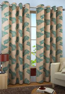 Homefab India Set of 2 Candy Plain Aqua Curtains (HF297)