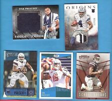 DAK PRESCOTT RC WORN JERSEY PATCH + RC USED TOWELL +3- 2016 ROOKIE CARDS COWBOYS