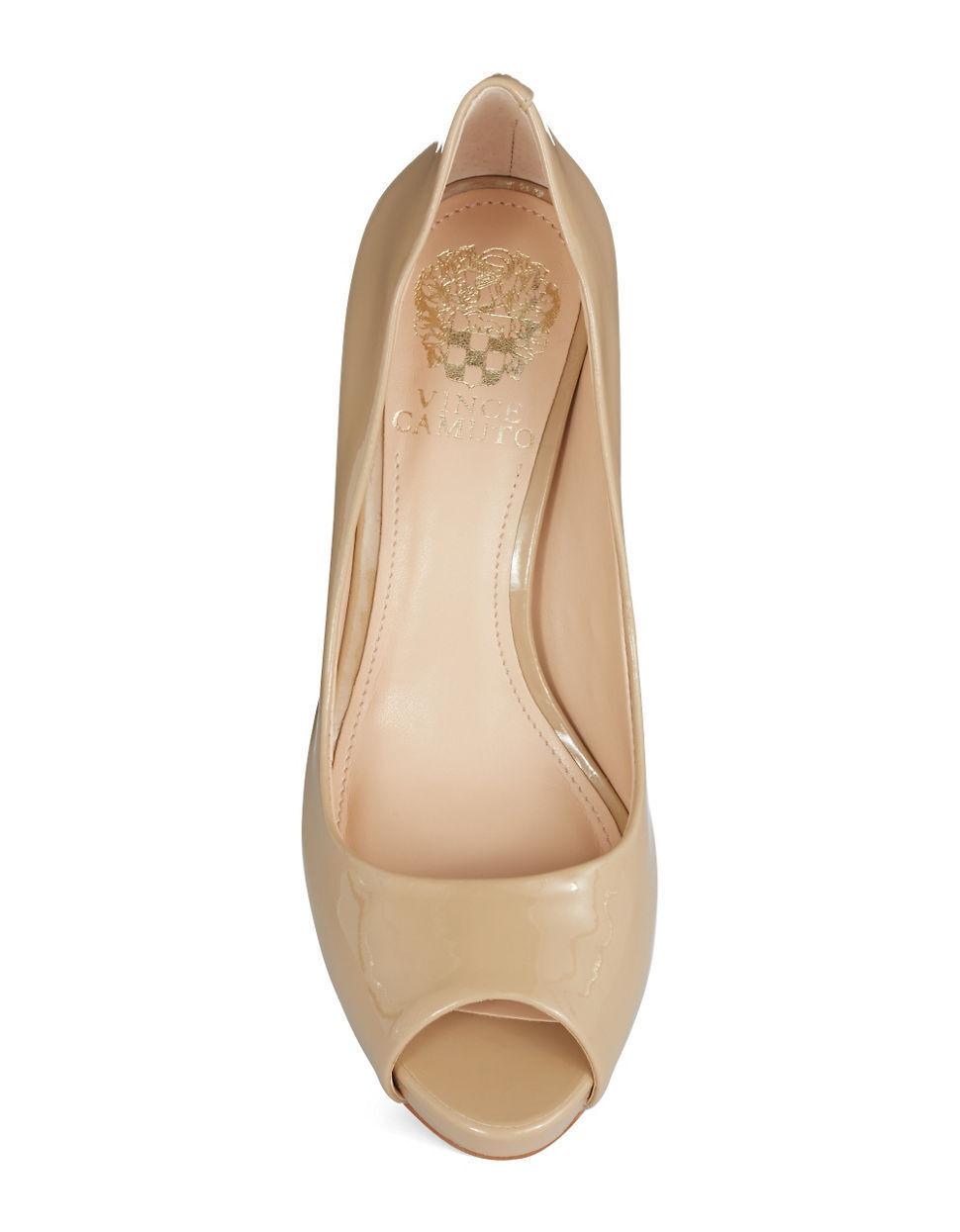 Women's VINCE CAMUTO Kiley Patent Leather Pumps, Size 11 11 11 Nude VC-KILEY 4b7ce9