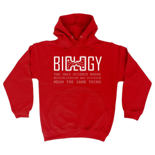 Biologia LA SCIENZA solo nel caso in cui Felpa con cappuccio Felpa con cappuccio geek nerd Top Divertente Compleanno Regalo