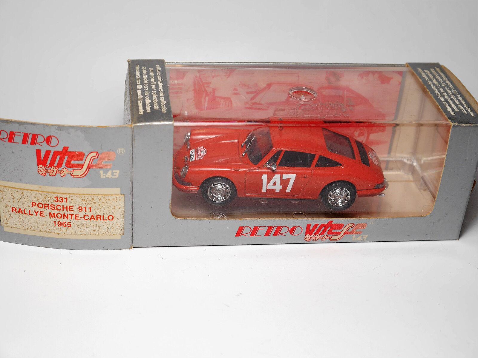 Porsche 911 RALLY  RALLYE MONTE CARLO 1965   147, vitesse de 1 43 en boîte