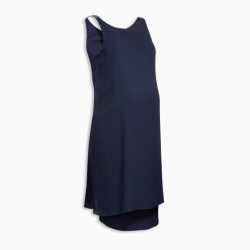 Next Maternity Embellished Shoulder Strap Dress Navy Sizes 8 10 12 14