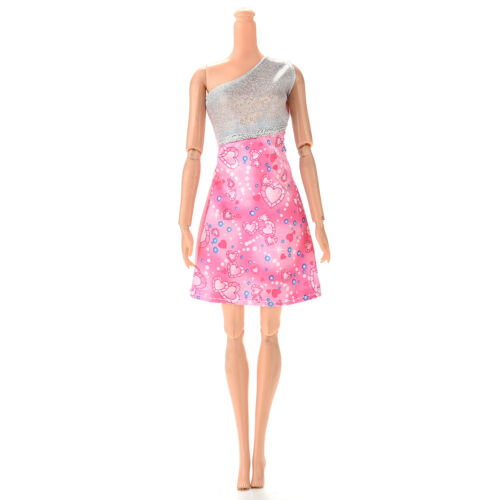 """1 Pc Beautiful Single Shoulder Sequin Sweet Heart Dress for 11/"""" s Doll VGCA"""