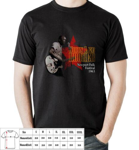 John Lee Hooker 1963 The Blues Mens T-shirt USA Size