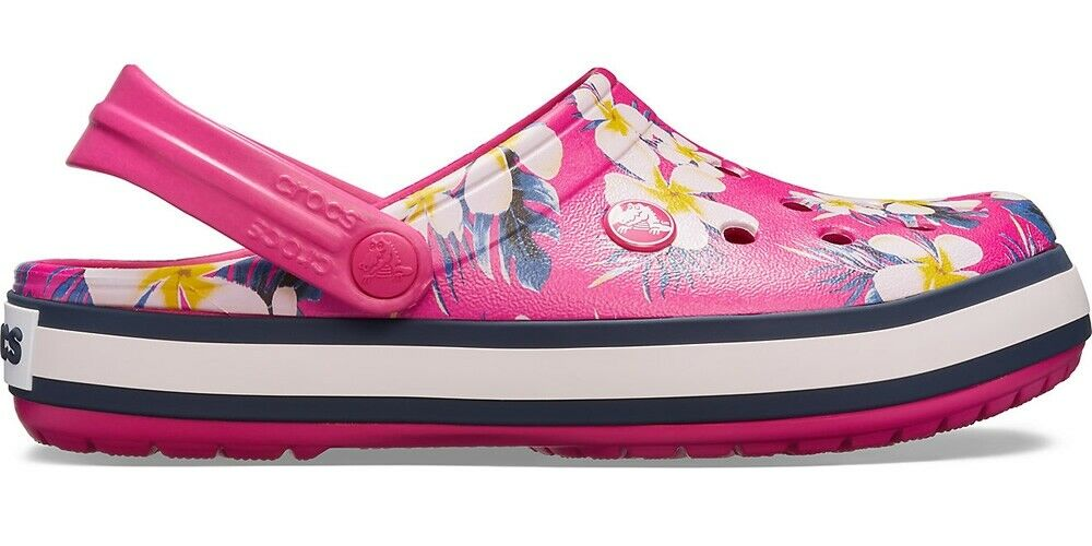 Crocs Crocband Seasonal Graphic Clog - Candy Pink Floral