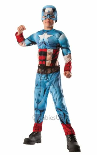 Boy/'s Deluxe Hulk to Captain America Costume