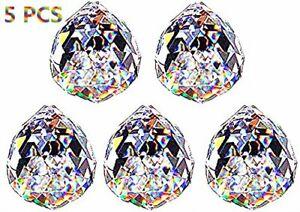 5-Clear-Crystal-Chandelier-Lamp-Ball-Prism-Suncatcher-Pendant-Wedding-Decor-20mm