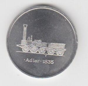 Medaille  DDR  Eisenbahn   Reichsbahndirektion Halle  Adler 1835