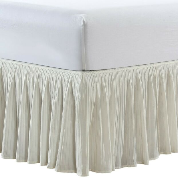 """Split Corner Tailored Bed Skirt 610 TC Solid Cotton US Bed Size Drop 18/"""" 19/"""" 20/"""""""