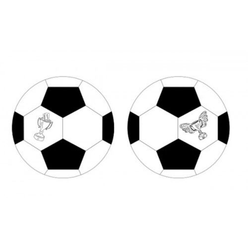 FOOTBALL SHAPE BUNTING WITH TROPHY CUP 10M WORLD CUP DECORATION