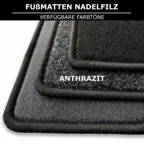 2009-2019 Fußmatten Passend für Peugeot 206+ Anthrazit Nadelfilz 4tlg