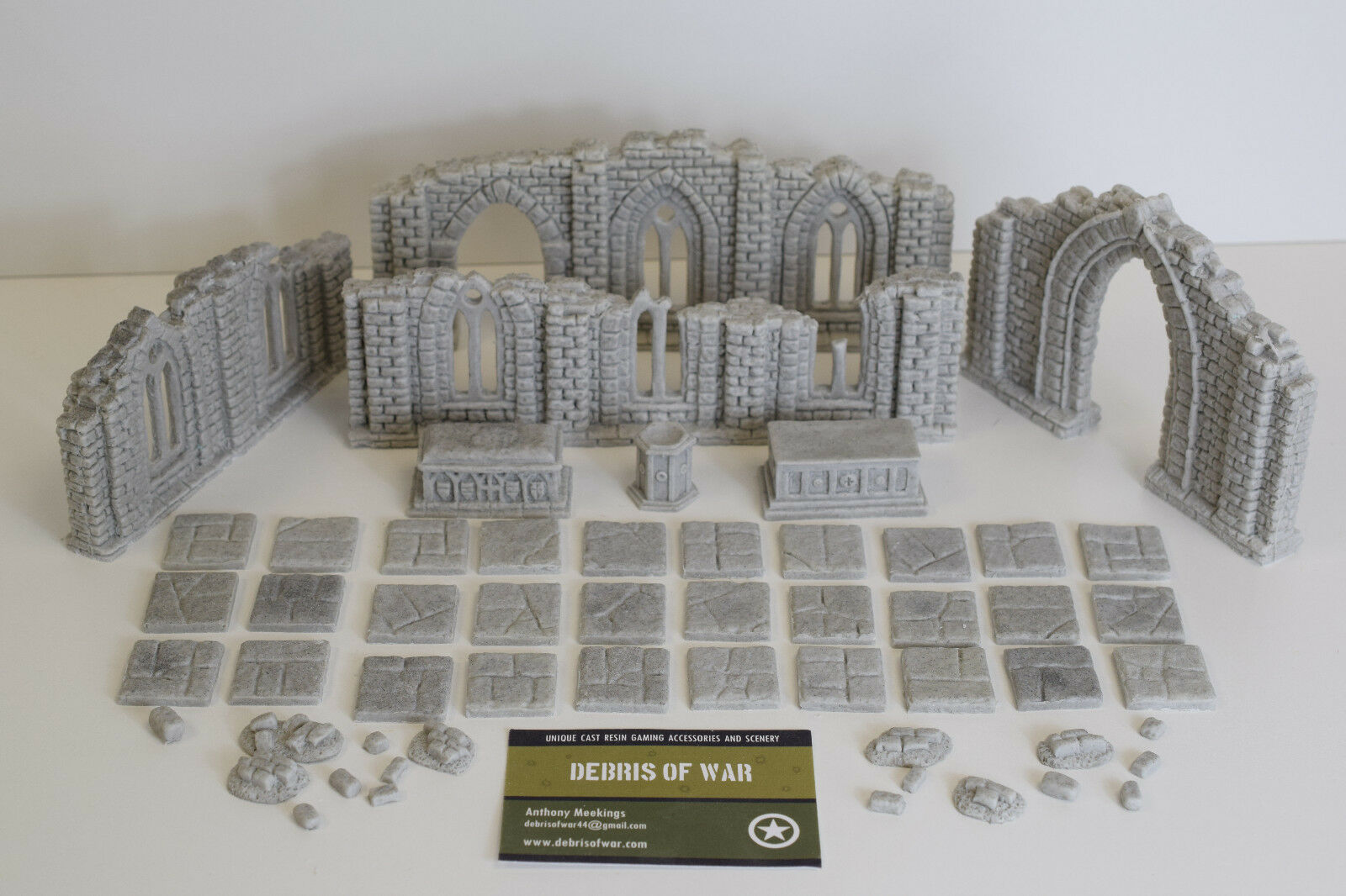 28mm Unpainted Resin Ruined Chapel  set   Frostgrave   Historical   Fantasy