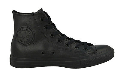 CONVERSE ALL STAR CHUCK TAYLOR LEATHER BLACK MONO STYLE 135251C