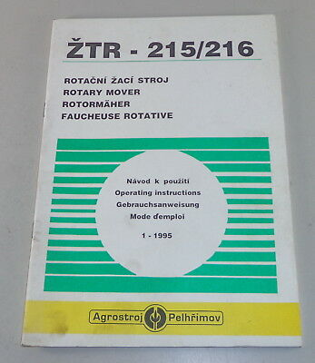 215/216 Stand 1/1995 Farming & Agriculture Parts Catalog Agrostroj Pelhrimov Rotormäher Ztr