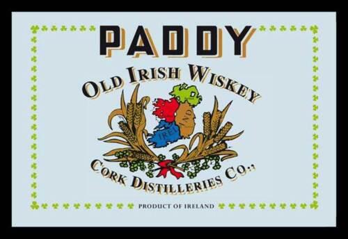 30x20 cm bedruckter Spiegel im Kunststoff Rahmen Paddy Old Irish Wiskey