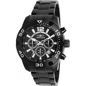 Invicta-Men-039-s-Pro-Diver-Black-Carbon-Fiber-Band-Steel-Case-Quartz-Watch-21488