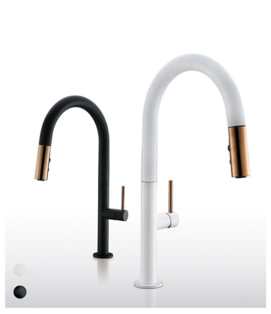 Aqua Touch 7811 White Eurogal Kitchen Faucet W Pull Out Spout For Sale Online Ebay